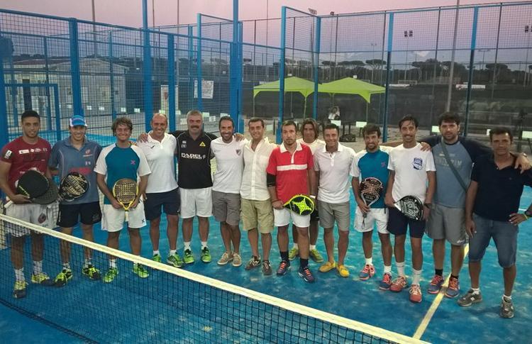Clinic impartido por Adrian Caviglia, junto a Chico Gomes y Pablo Lijó, en Lupa Roma Pádel