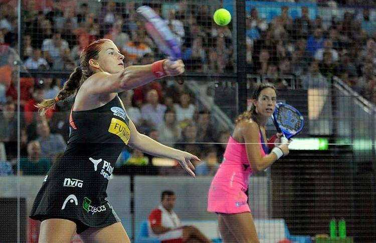 Alejandra Salazar e Marta Marrero, in azione all'Estrella Damm Madrid Open