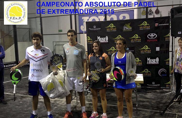 Les gagnants du Championnat Padding d'Extremadura 2015