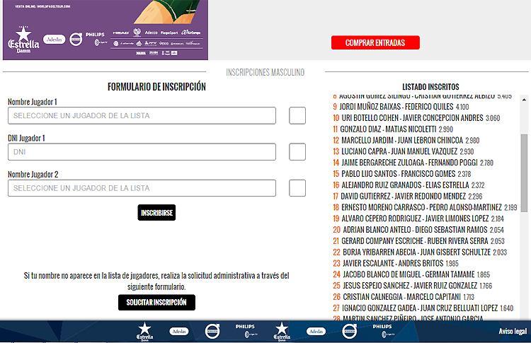 Sorpresas entre los inscritos al Estrella Damm Sevilla Open