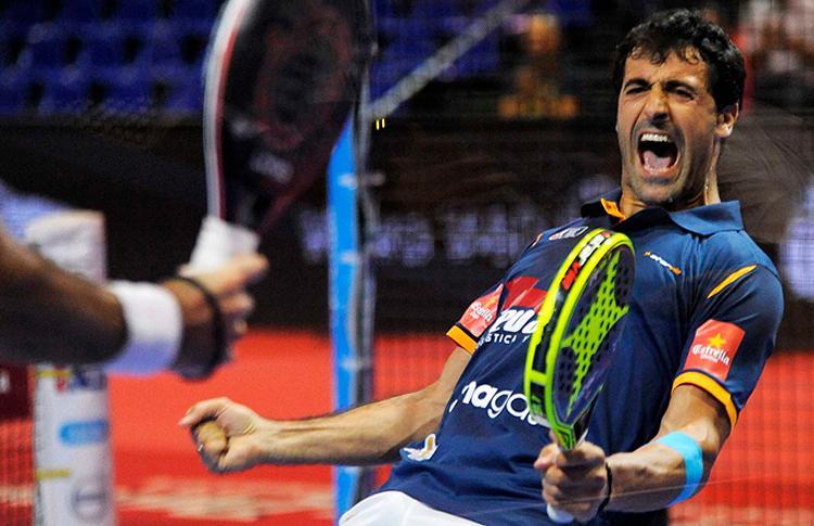 Borja Yribarren, en acción en el Galicia Open