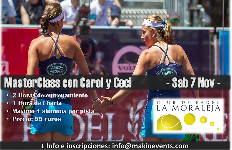 MasterClass de Carolina Navarro et Cecilia Reiter au Padel Club La Moraleja