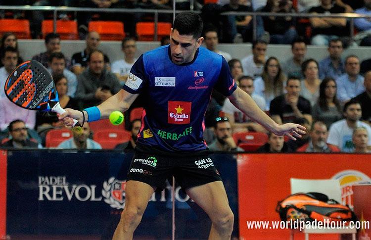Maxi Sánchez, en acción en el Zaragoza Open