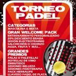 Cartel del Torneo que Padelon organizará en la Ciudad de la Raqueta