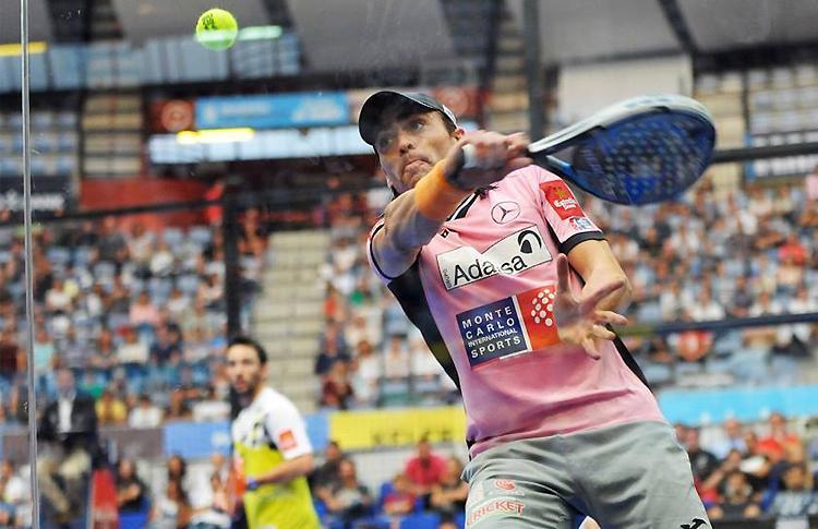 Juani Mieres y Sanyo Gutiérrez, en acción en la final del Keler Euskadi Open