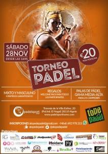 Cartel del Torneo de A Tope de Pádel en PádelSport Home