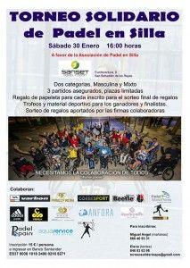Affiche du tournoi de solidarité Padel en fauteuil roulant