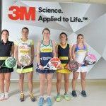 3M presenta un equipo con mucho 'FUTURO' en el pádel femenino