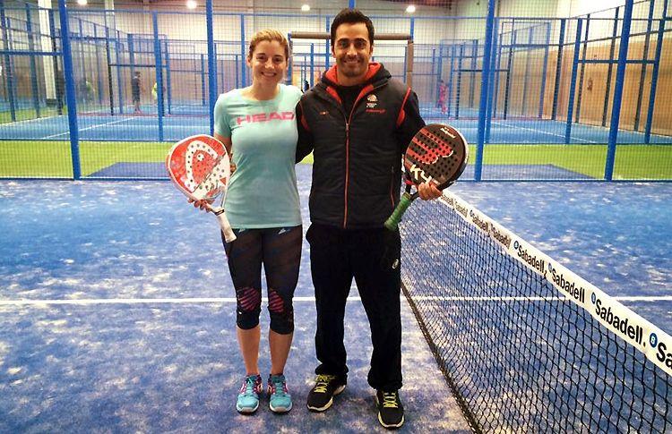Manu Martín, en una de sus sesiones de entrenamiento con Alejandra Salazar