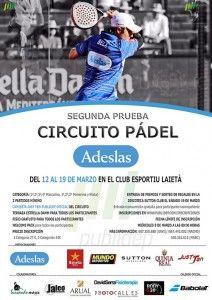 Cartel de la segunda prueba del Circuito Adeslas Pádel