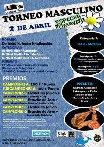 Cartel del próximo torneo de La Solana