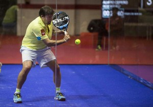 Cristian Gutiérrez, en acción en el Gijón Open