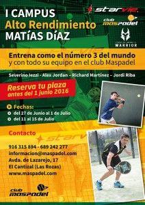 Llega el I Campus de Alto Rendimiento de Matías Díaz