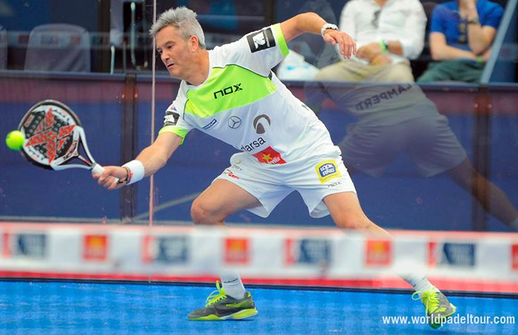 Miguel Lamperti, en action à l'Estrella Damm Las Rozas Open