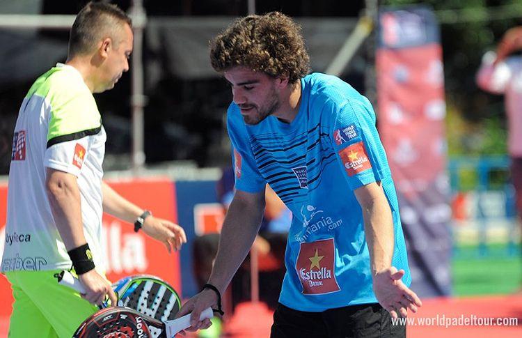 Juan Lebrón y Gaby Reca, en acción en el Estrella Damm Barcelona Máster