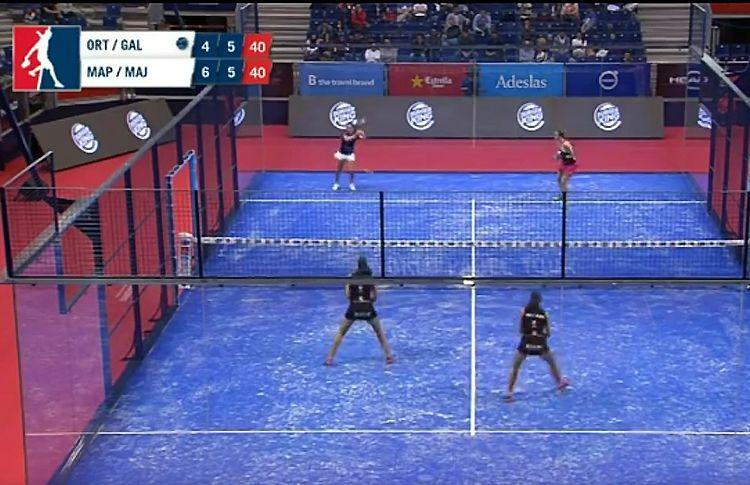 Mapi e Majo Sáncez Alayeto contro Marta Ortega-Alba Galán nel Maestro Estrella Damm Valencia