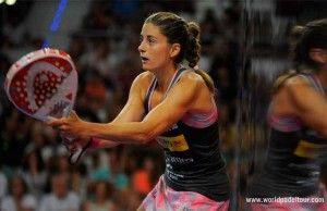 Alejandra Salazar, en acción en el Estrella Damm Palma de Mallorca Open