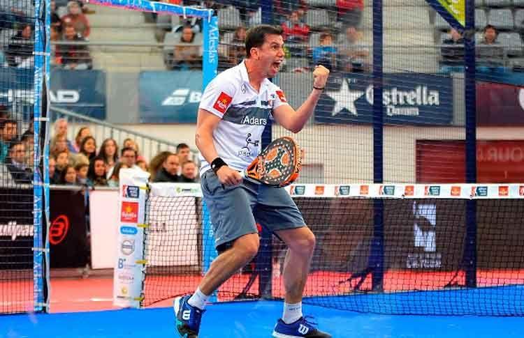 Paquito Navarro, en acción en el Estrella Damm Palma de Mallorca Open