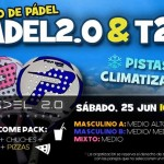 Cartel del torneo de Time2Pádel en Padel2.0