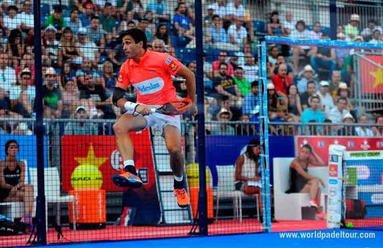 Fernando Belasteguín, en acción en el Valladolid Open