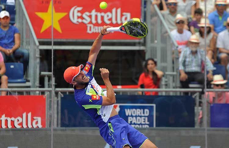 Juan Martín Díaz, en acción en el Valladolid Open