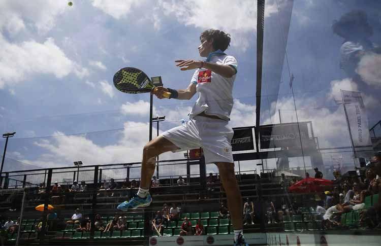 Maty Marina, en acción en el Joma Barcelona Challenger