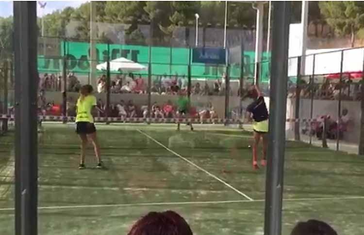 Marta Ortega-Alba Galán, en action à l'Open de Valladolid