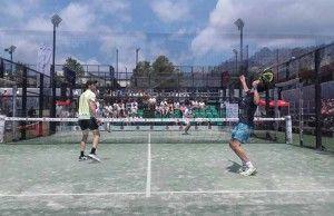 Gonzalo Rubio y Javi Ruiz, en acción en el Joma Barcelona Challenger