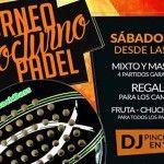 Cartel del Torneo de A Tope de Padel en el Club Madrid Norte