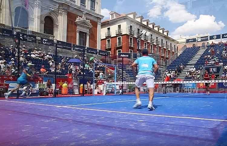 Matías Díaz-Maxi Sánchez, en action à l'Open de Valladolid
