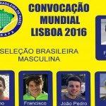 Brasil anuncia su equipo para el XIII Campeonato del Mundo por Selecciones Nacionales
