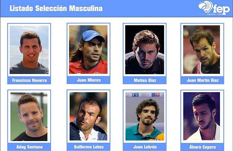 Selección Española Masculina para el Mundial de Lisboa