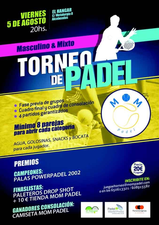 Affiche du tournoi MOM Paddle à El Hangar