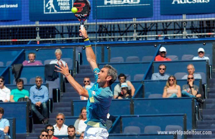 Raúl Díaz, en acción en la Previa del Gran Canaria Open