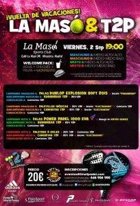 Cartel del Torneo de Time2Pádel en La Masó