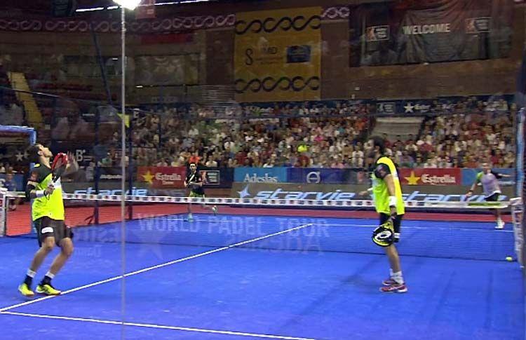 Fernando Belasteguín y Pablo Lima, en acción en el Sevilla Open