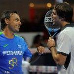 Godo Díaz y Lucho Capra, en acción en el Monte-Carlo Padel Master