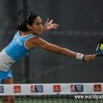 Majo Sánchez Alayeto, en acción en el Sevilla Open