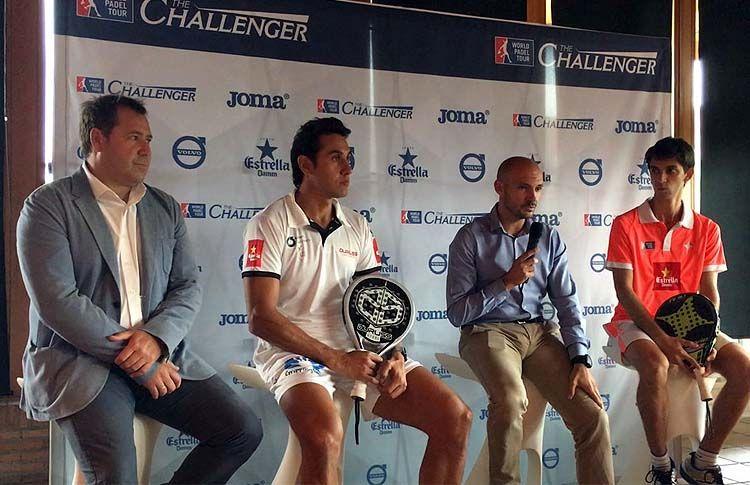 Fernando Poggi y Maty Marina, en la Presentación Oficial del Reebok Sports Club La Finca Challenger