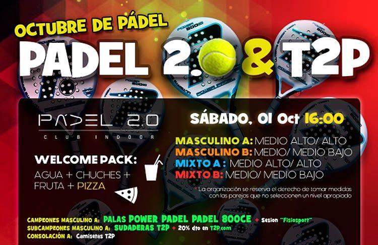 Poster del torneo Time2Pádel nei campi da paddle 2.0