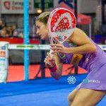 Alejandra Salazar y Marta Marrero, en acción en el Zaragoza Open