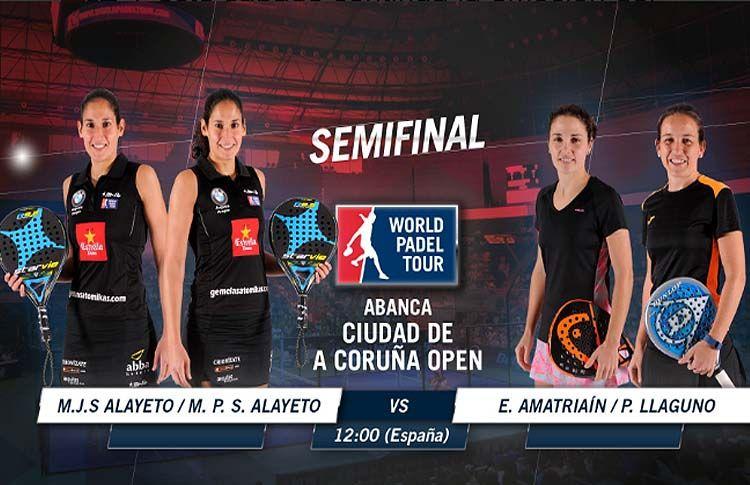 Todo listo para las semifinales femeninas del A Coruña Open (World Pádel Tour)