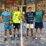 Uri Botello luce el Lazo Rosa durante la disputa del A Coruña Open