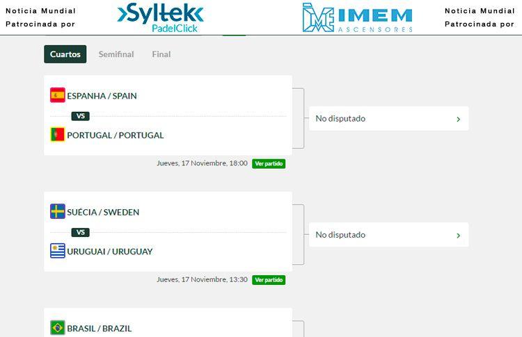 Quarts de finale du tournoi par les équipes nationales du XIIIº Paddle World Championship