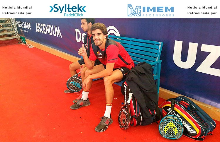 Juan Lebrón y Chiqui Cepero, en el XIIIº Campeonato del Mundo de Pádel