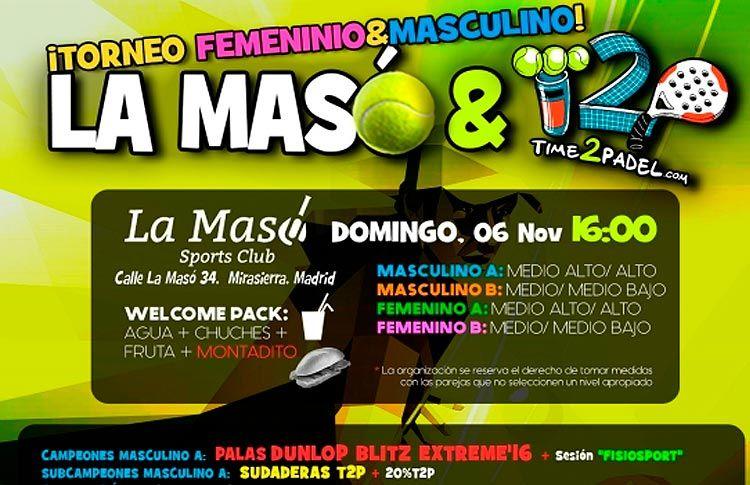 Manifesto del Torneo Time2Pádel a La Masó