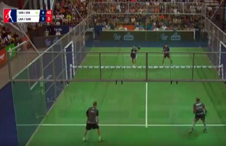 Matías Díaz-Maxi Sánchez, en acción en las semifinales del Mendoza Open
