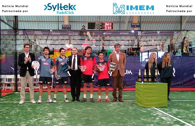Chiqui Cepero y Juan Lebrón, ganadores del Torneo por Parejas del XIIIº Campeonato del Mundo de Pádel