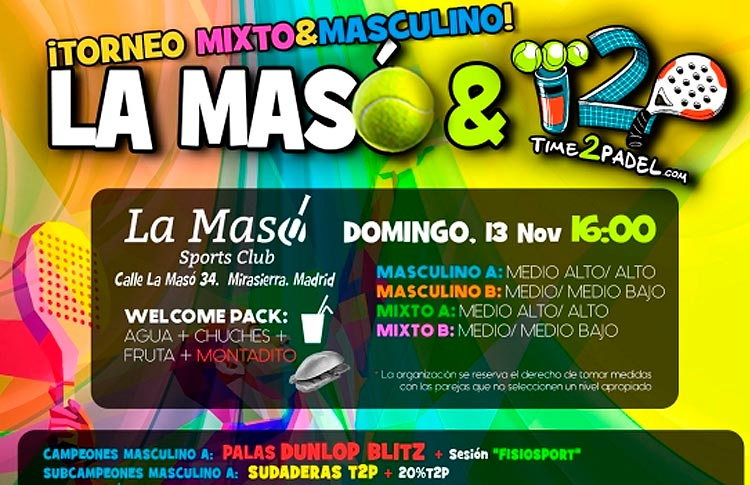Affiche du Tournoi Time2Pádel à La Masó