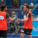 Fernando Belasteguín y Pablo Lima, en acción en el Keler Euskadi Open